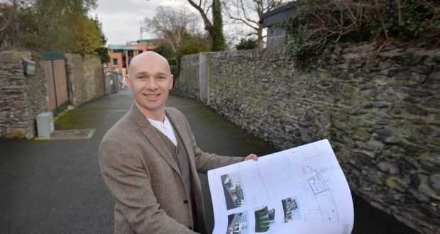 """Architect Darragh Lynch in Malahide where he has obtained planning permission for six neighbours, who got together to obtain permission for mews houses at the end of their gardens. Photograph: Alan Betson / The Irish Times"